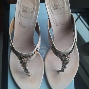 Stuart Weitzman Kitten Heel Sandals